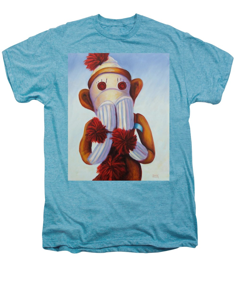 Children Men's Premium T-Shirt featuring the painting Speak No Bad Stuff by Shannon Grissom