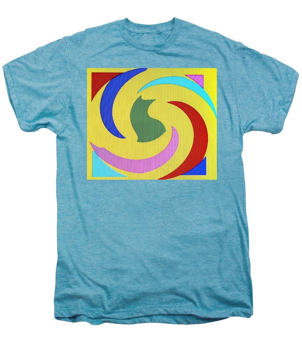 Abstract Men's Premium T-Shirt featuring the digital art Spiral Three by Ian MacDonald