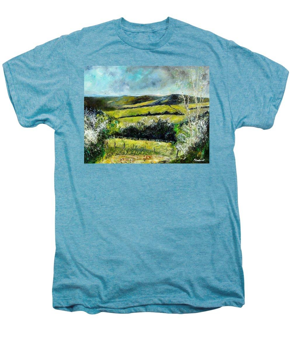 Landscape Men's Premium T-Shirt featuring the print Spring 79 by Pol Ledent