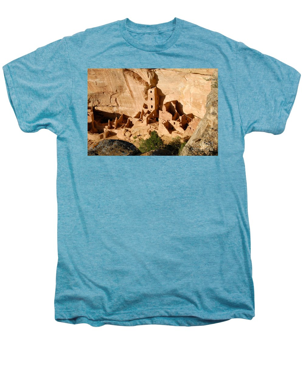 Square Tower Men's Premium T-Shirt featuring the photograph Square Tower Ruin by David Lee Thompson