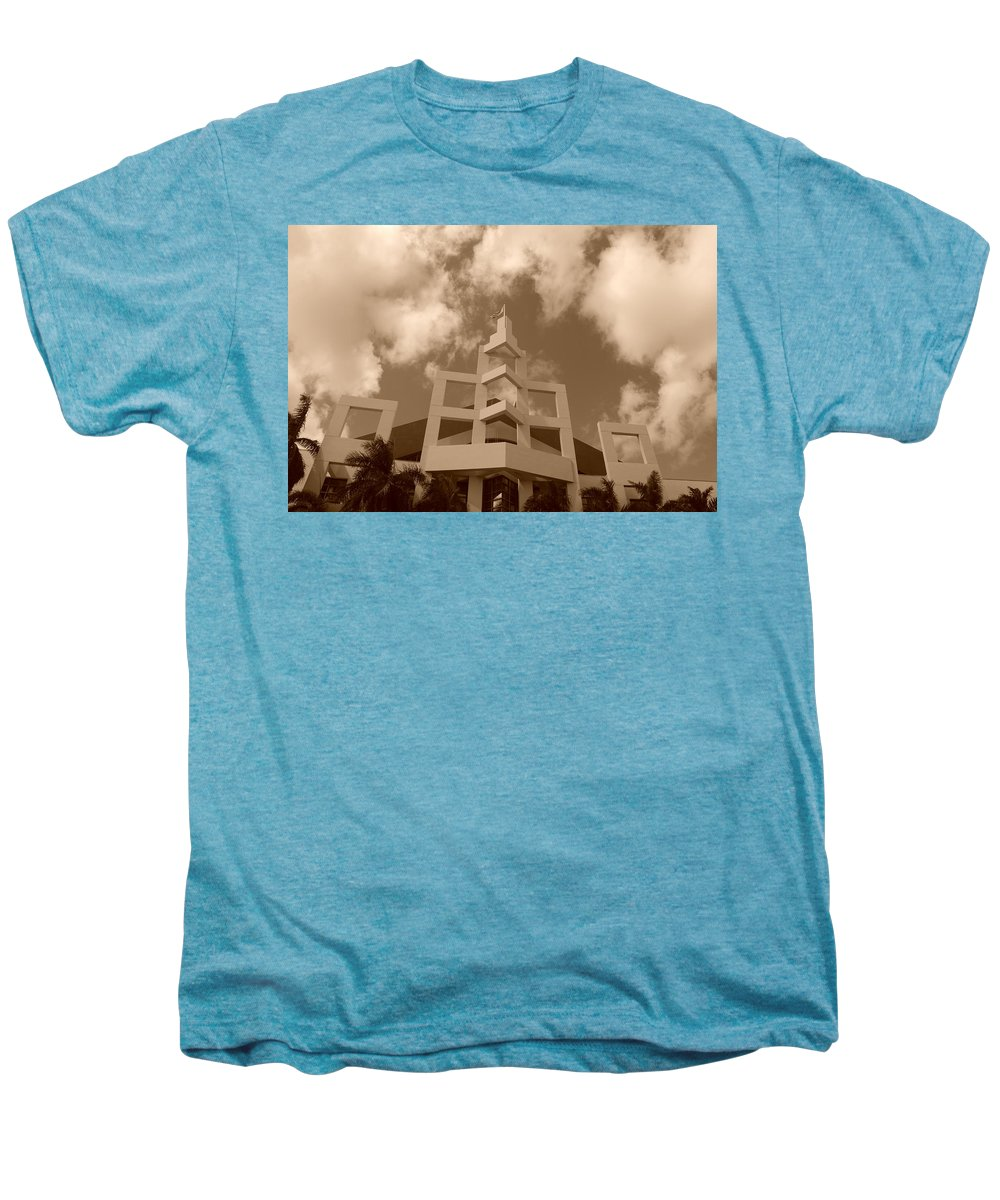 Architecture Men's Premium T-Shirt featuring the photograph Squares In The Sky by Rob Hans