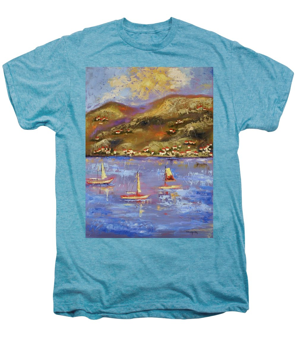 St. John Men's Premium T-Shirt featuring the painting St. John Usvi by Ginger Concepcion