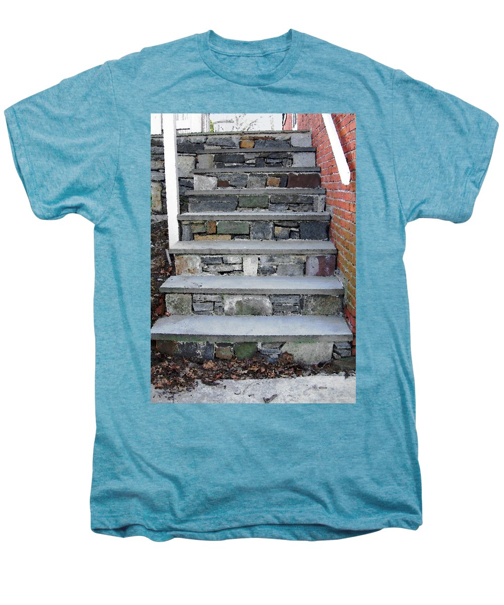 Stairs Men's Premium T-Shirt featuring the photograph Stairs To The Plague House by RC DeWinter