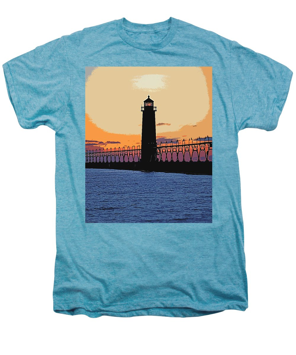 Light House Men's Premium T-Shirt featuring the photograph Standing Sure by Robert Pearson