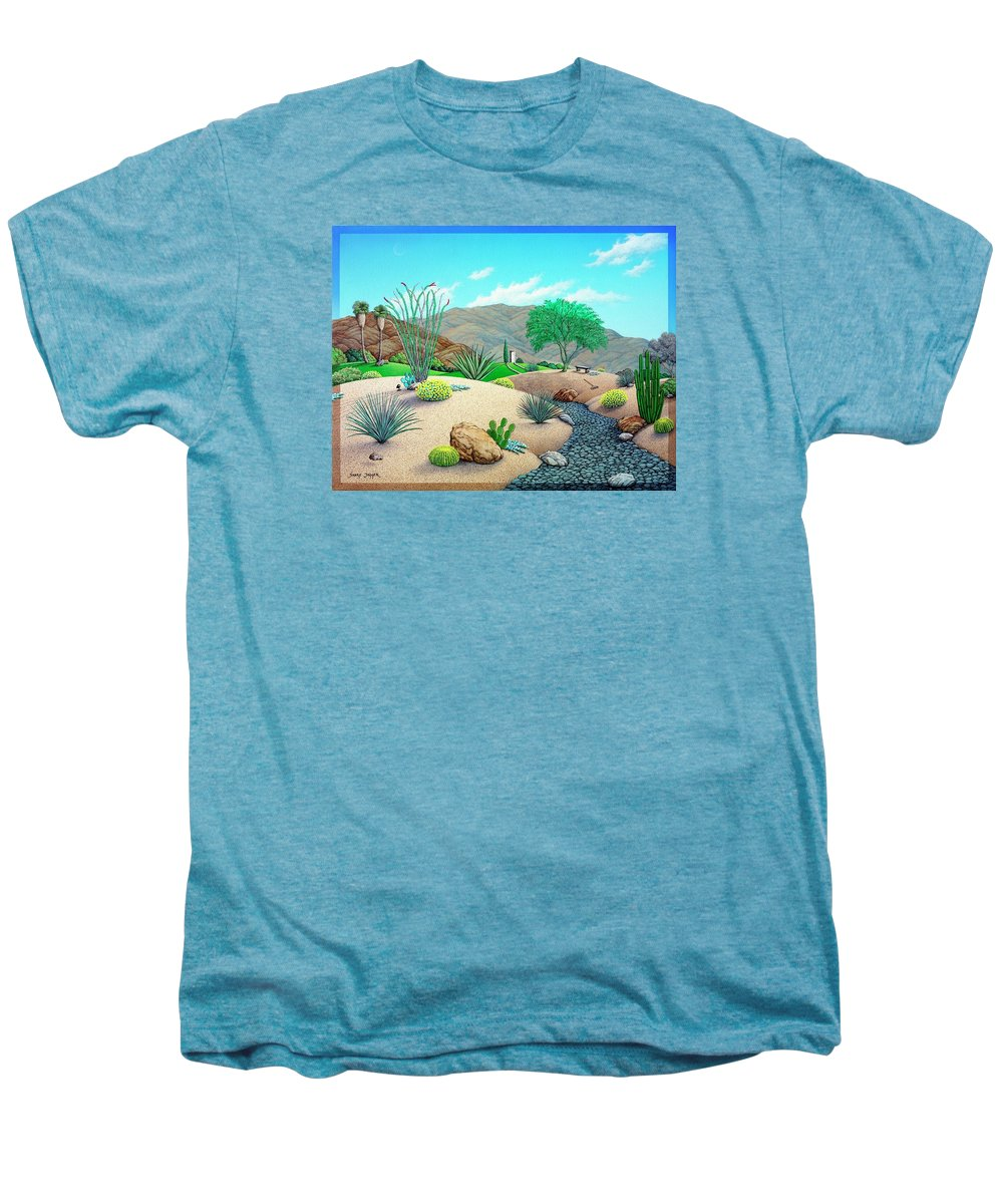 Desert Men's Premium T-Shirt featuring the painting Steves Yard by Snake Jagger