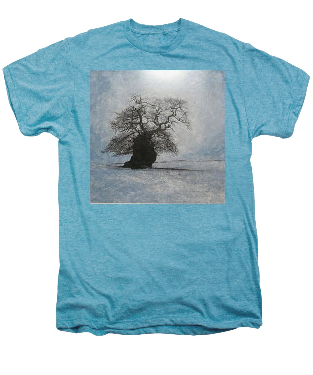 Silhouette Men's Premium T-Shirt featuring the painting Stilton Silhouette by Leah Tomaino