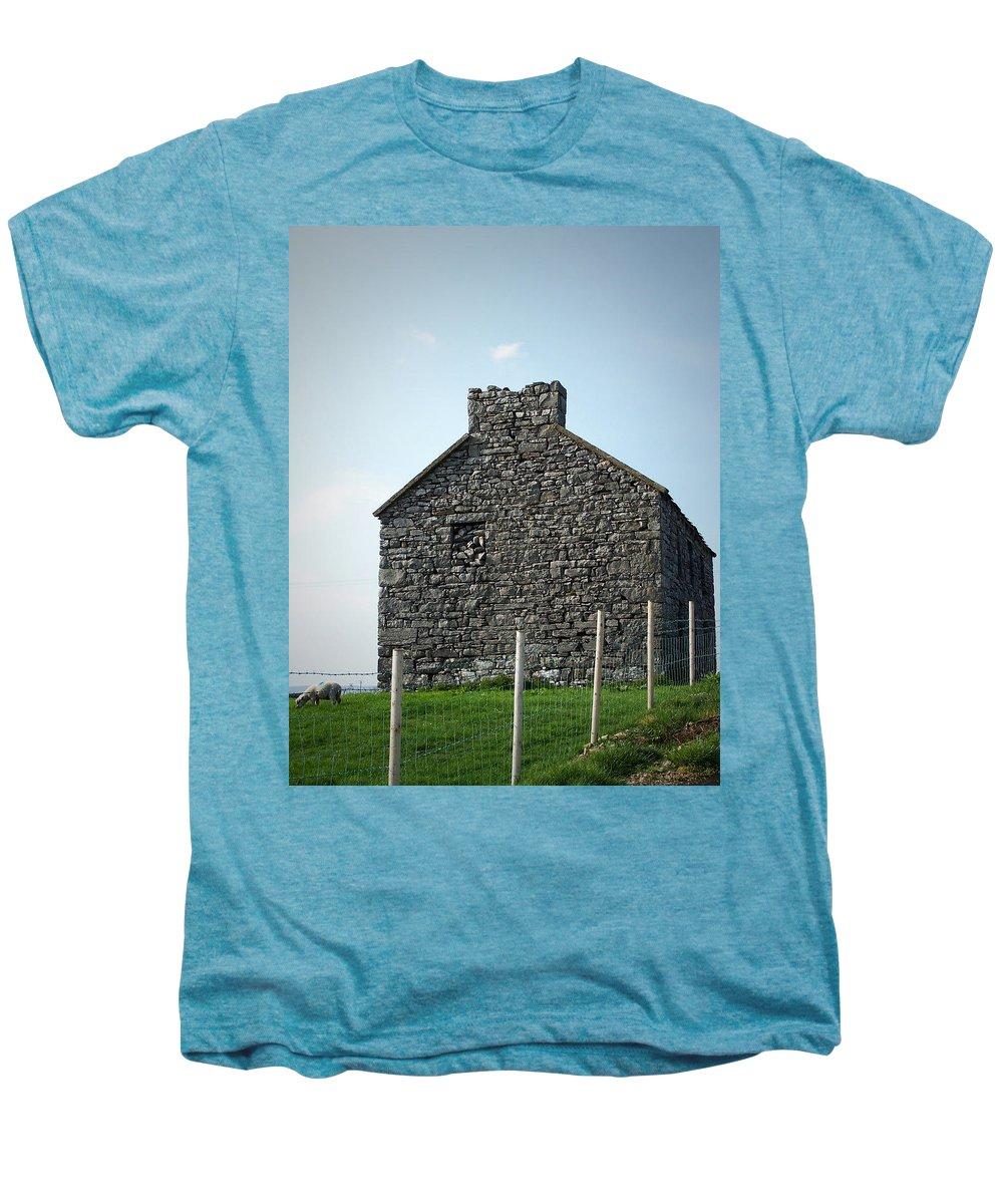 Irish Men's Premium T-Shirt featuring the photograph Stone Building Maam Ireland by Teresa Mucha