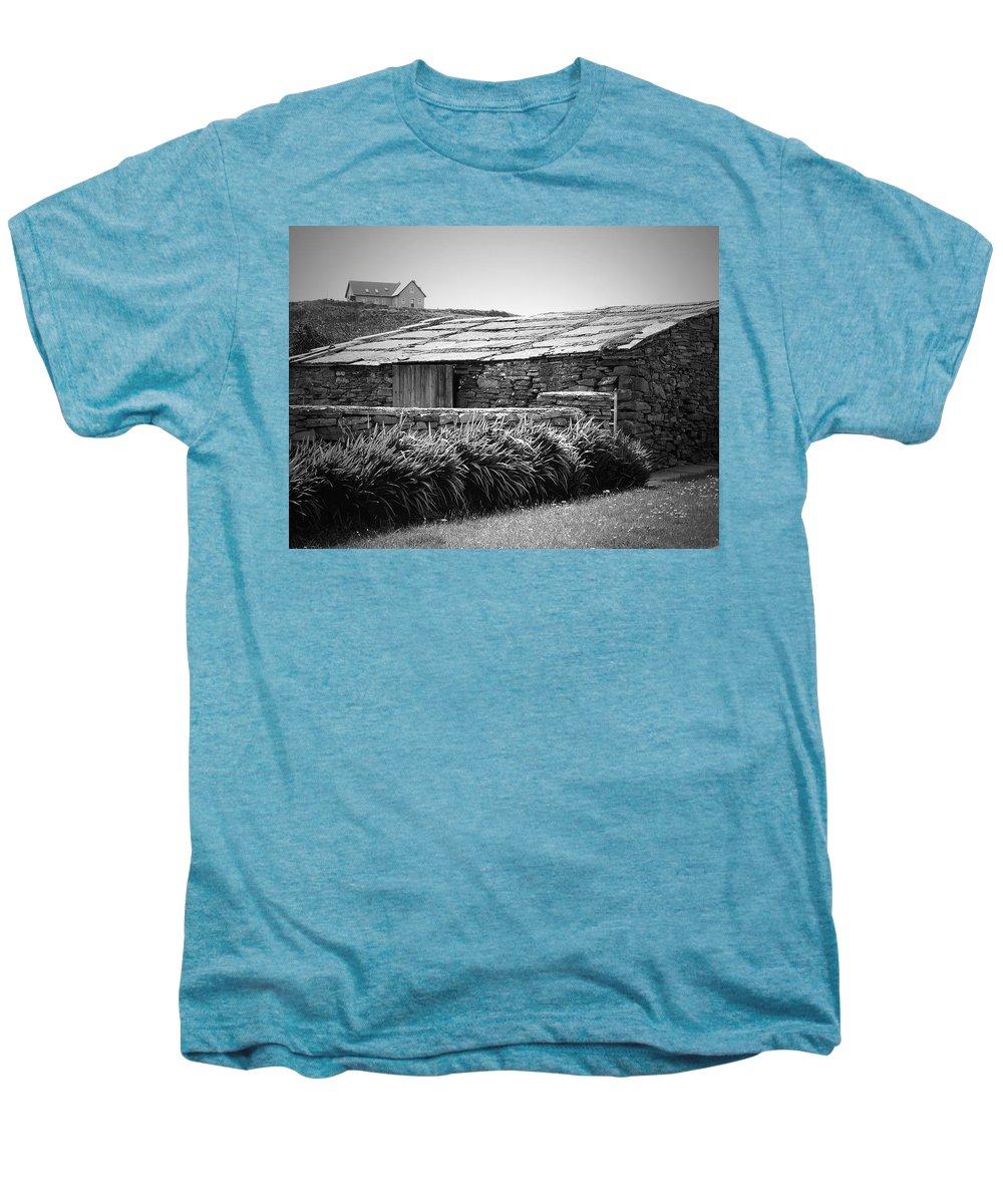 Irish Men's Premium T-Shirt featuring the photograph Stone Structure Doolin Ireland by Teresa Mucha