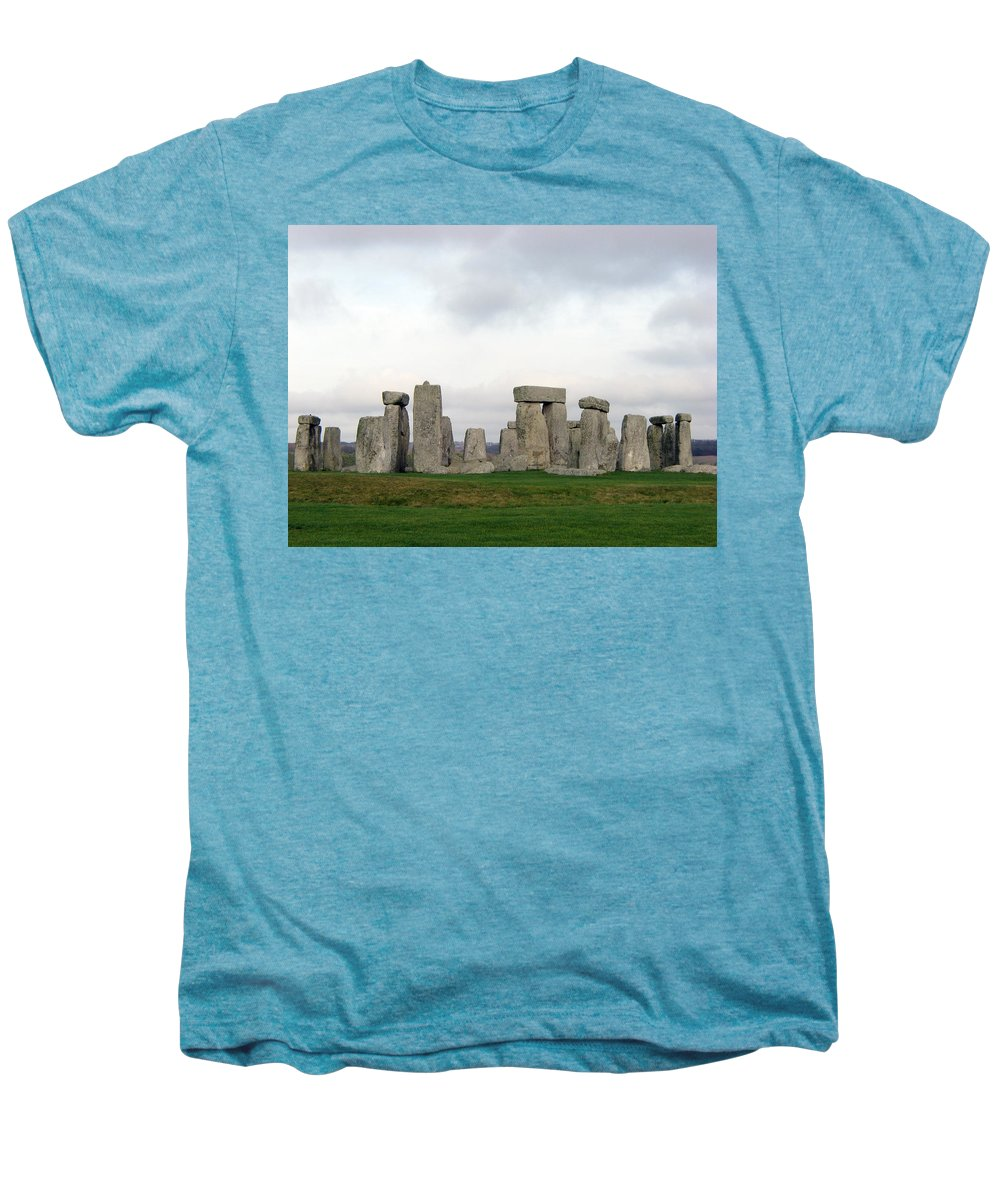 Stonehenge Men's Premium T-Shirt featuring the photograph Stonehenge by Amanda Barcon