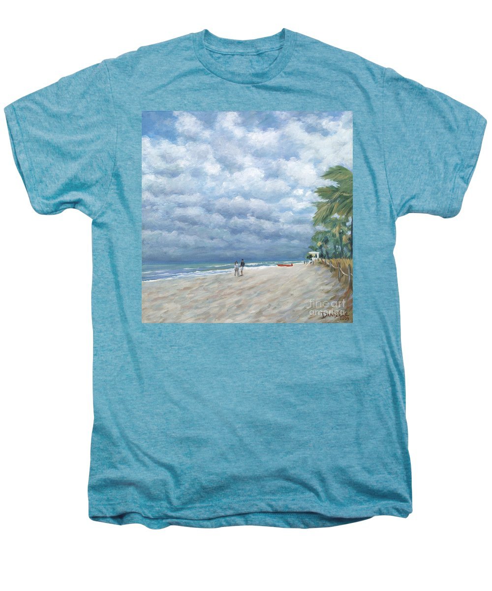 Fort Lauderdale Men's Premium T-Shirt featuring the painting Storm On The Horizon by Danielle Perry