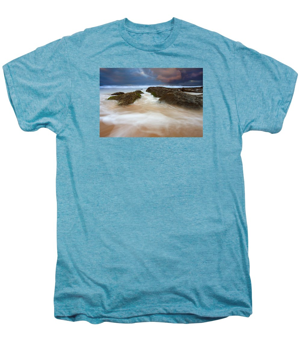 Seascape Men's Premium T-Shirt featuring the photograph Storm Shadow by Mike Dawson