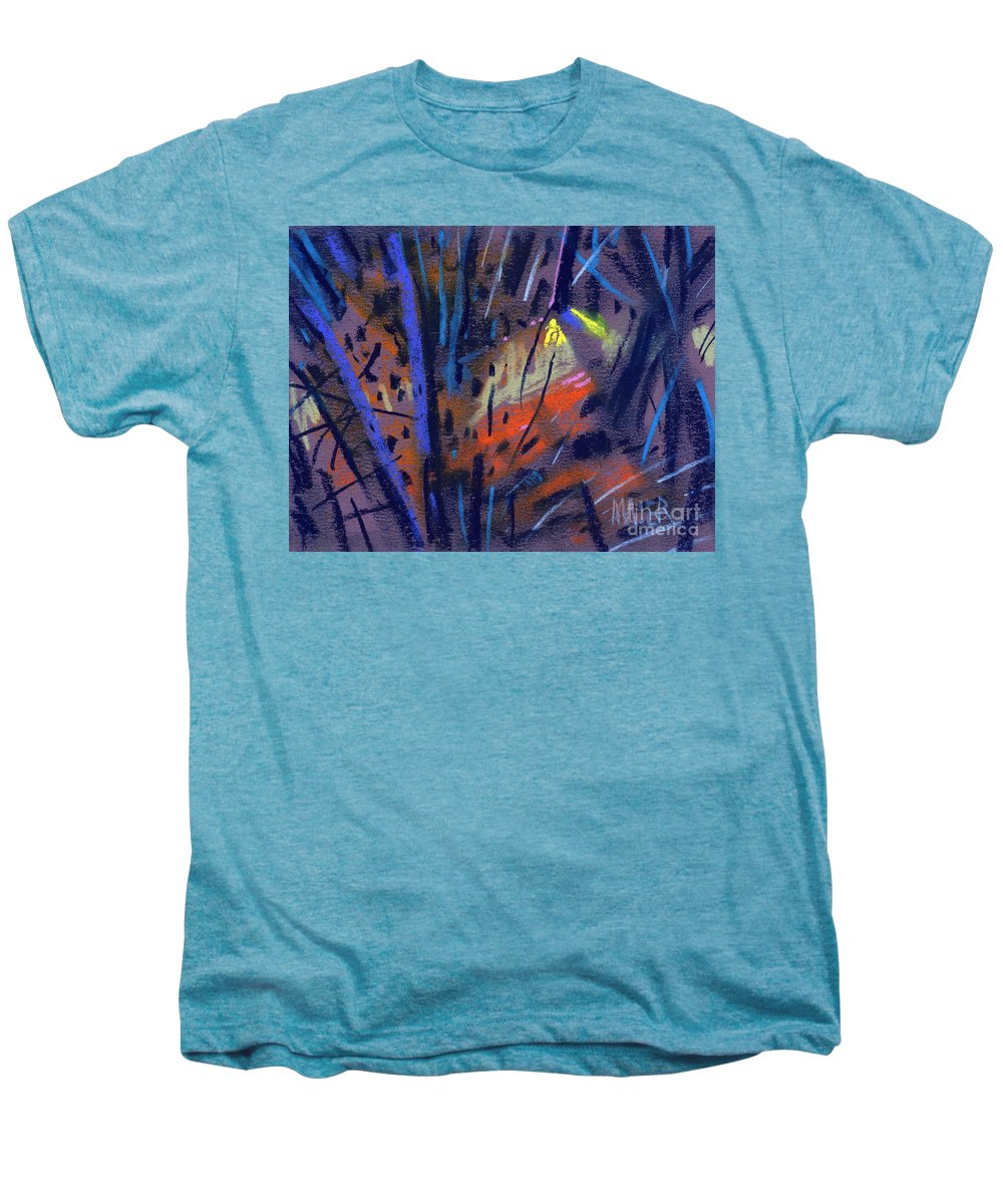 Abstract Men's Premium T-Shirt featuring the drawing strange Lights by Donald Maier