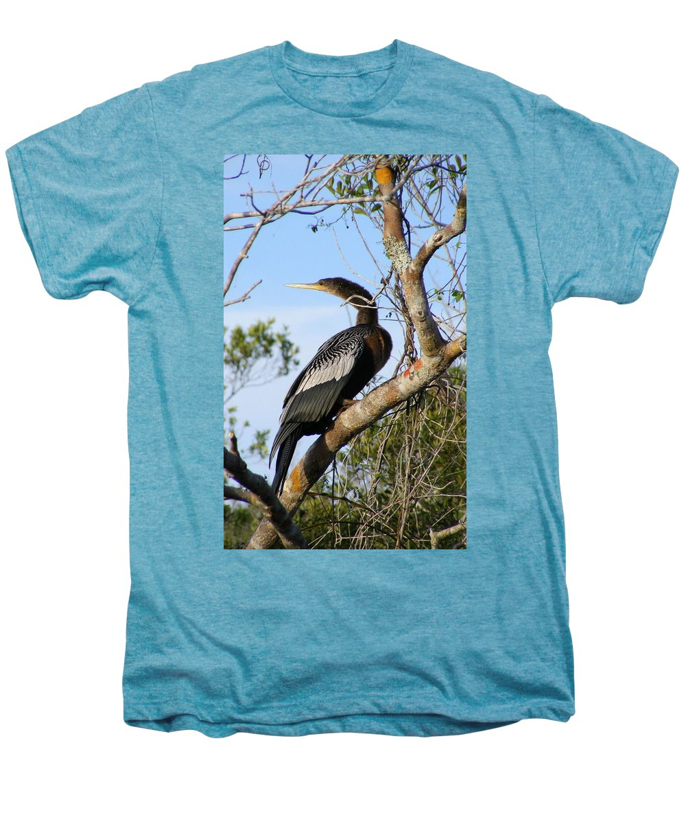 Bird Men's Premium T-Shirt featuring the photograph Strike A Pose by Ed Smith
