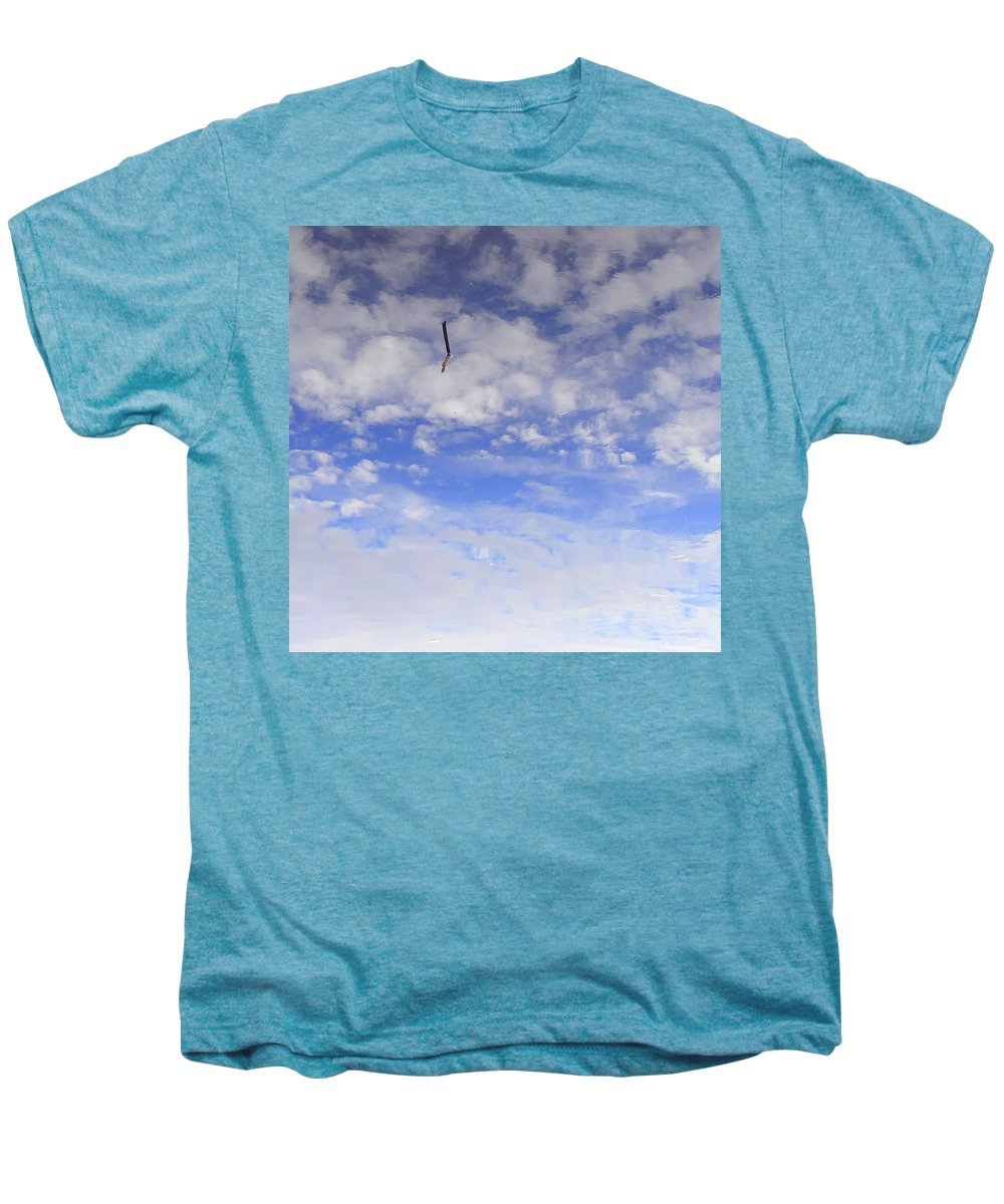 Sky Men's Premium T-Shirt featuring the photograph Stuck In The Clouds by Ed Smith