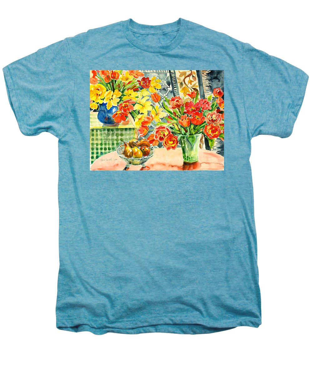 Watercolor Men's Premium T-Shirt featuring the painting Studio Still Life by Ingrid Dohm