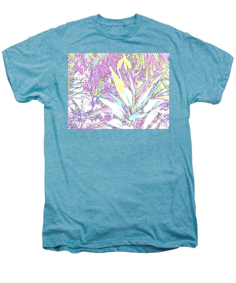 Abstract Men's Premium T-Shirt featuring the photograph Subtle Leaf by Ian MacDonald