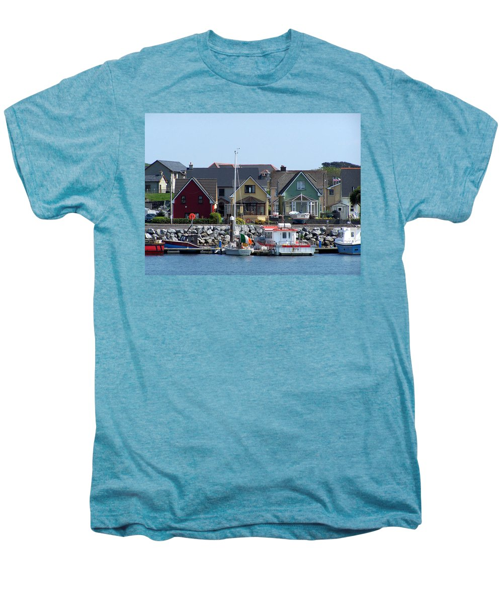 Irish Men's Premium T-Shirt featuring the photograph Summer Cottages Dingle Ireland by Teresa Mucha
