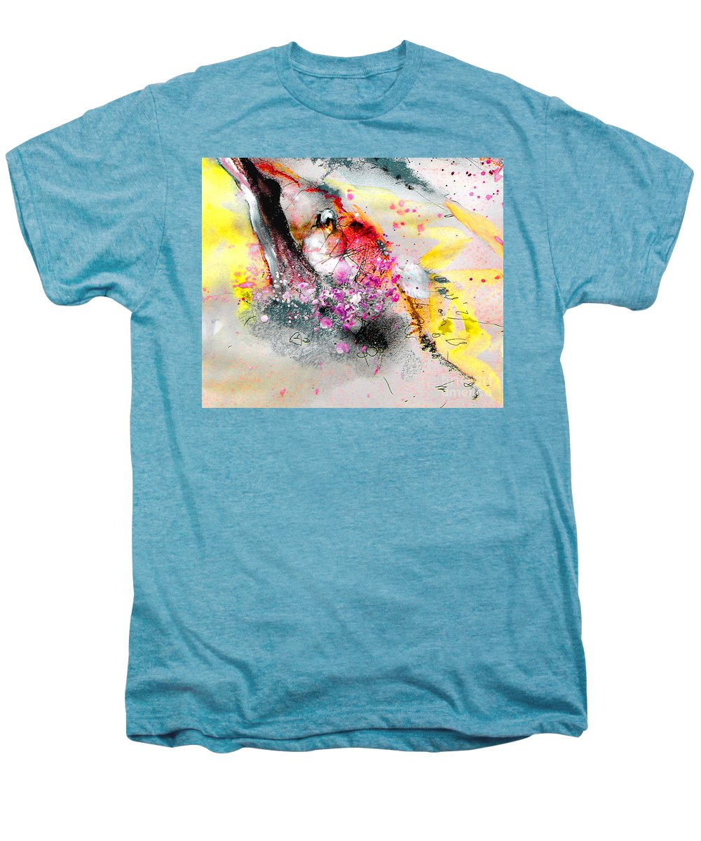 Pastel Painting Men's Premium T-Shirt featuring the painting Sunday By The Tree by Miki De Goodaboom