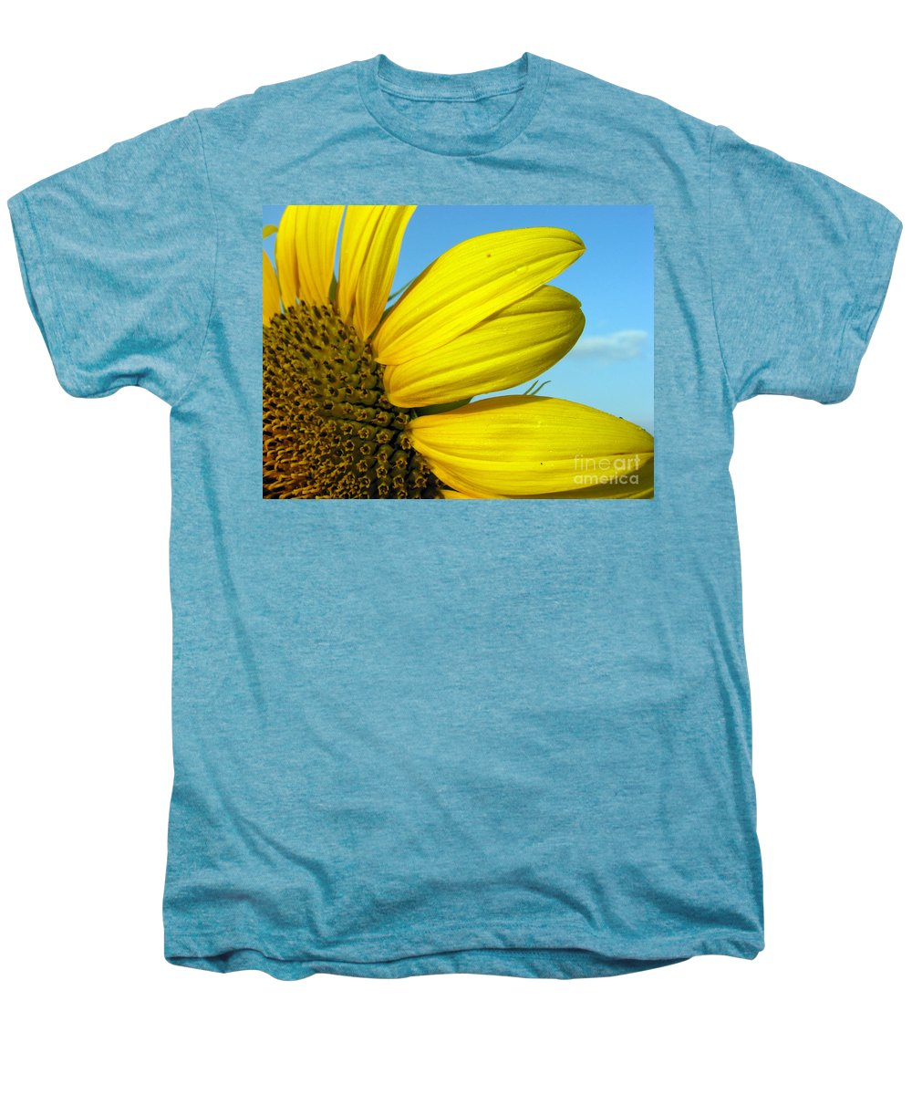 Sunflowers Men's Premium T-Shirt featuring the photograph Sunflower by Amanda Barcon