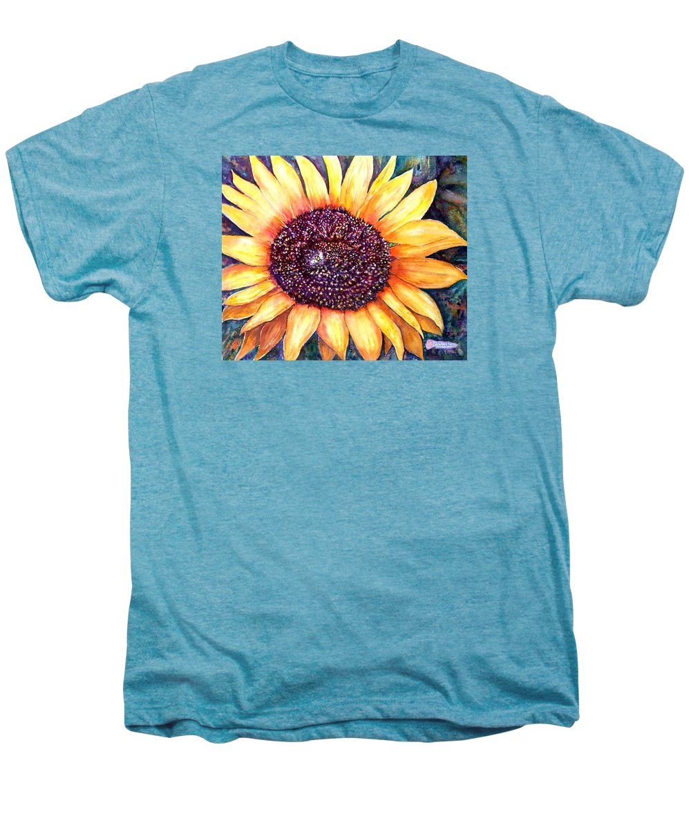 Sunflower Men's Premium T-Shirt featuring the painting Sunflower Of Georgia by Norma Boeckler
