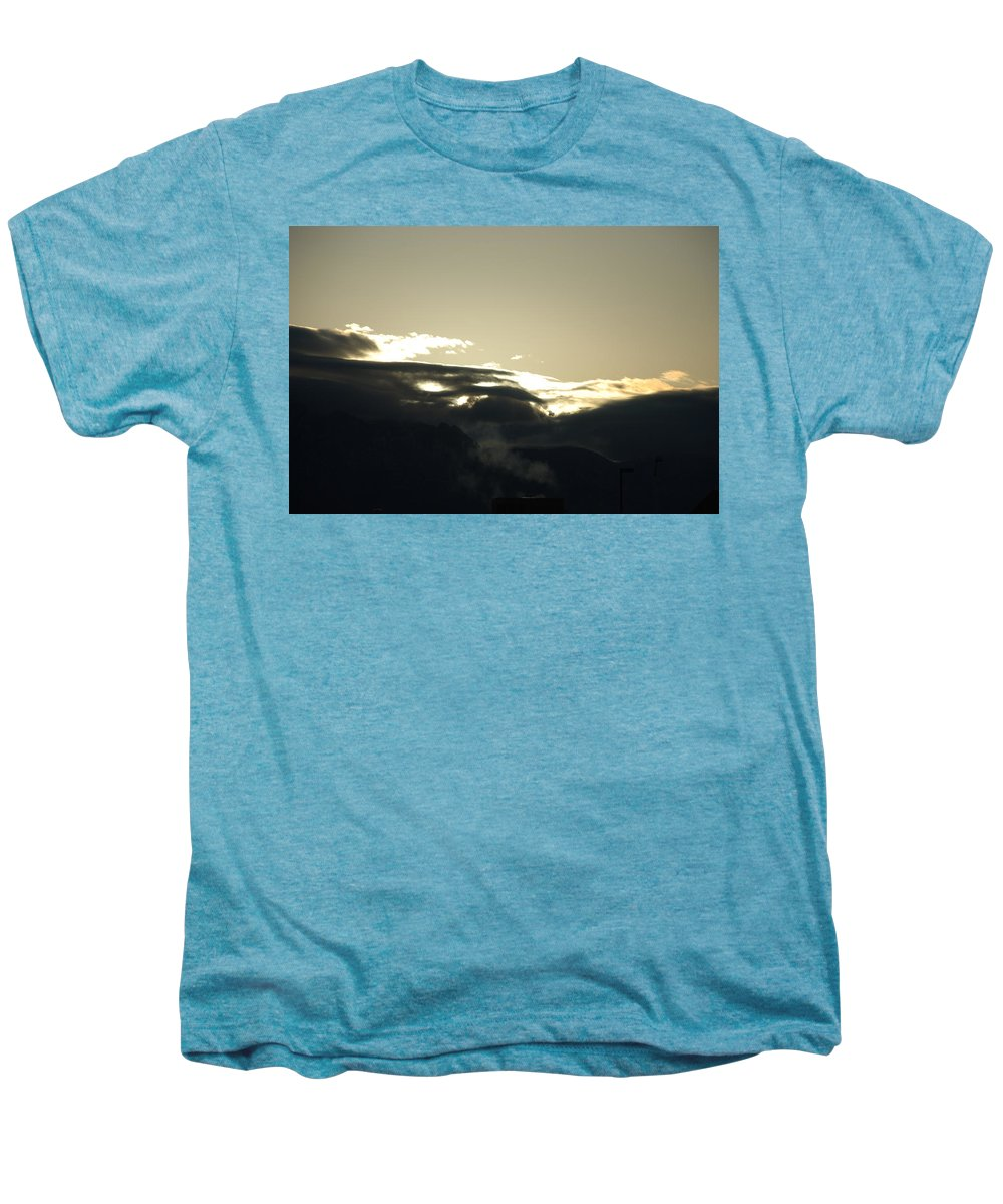Sunrise Men's Premium T-Shirt featuring the photograph Sunrise Over The Sandias by Rob Hans