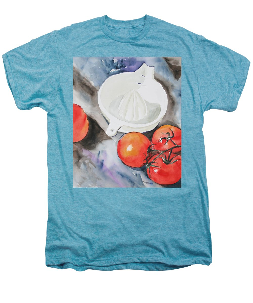 Tomatoes Men's Premium T-Shirt featuring the painting Sunshine On The Vine by Jean Blackmer