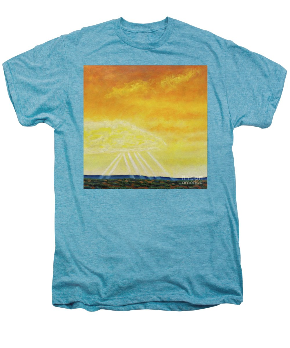 Landscape Men's Premium T-Shirt featuring the painting Super Seven by Brian Commerford