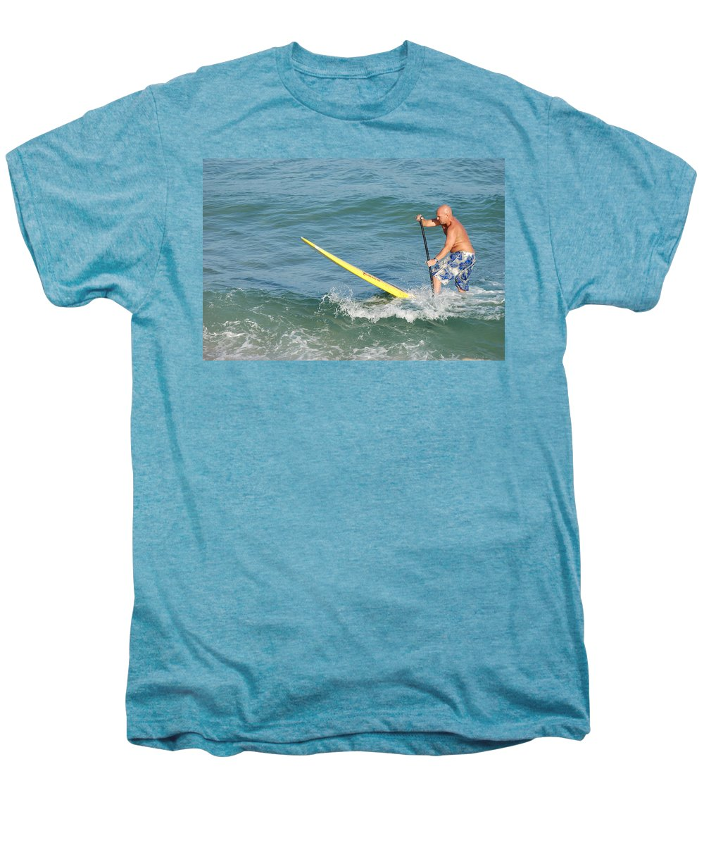Sea Scape Men's Premium T-Shirt featuring the photograph Surfer Dude by Rob Hans