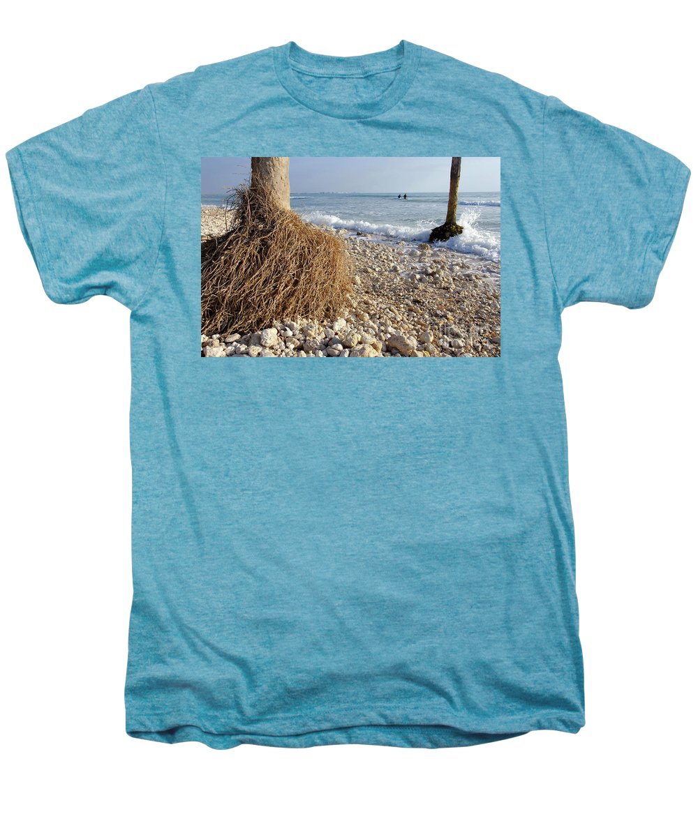 Surfing Men's Premium T-Shirt featuring the photograph Surfing With Palms by David Lee Thompson