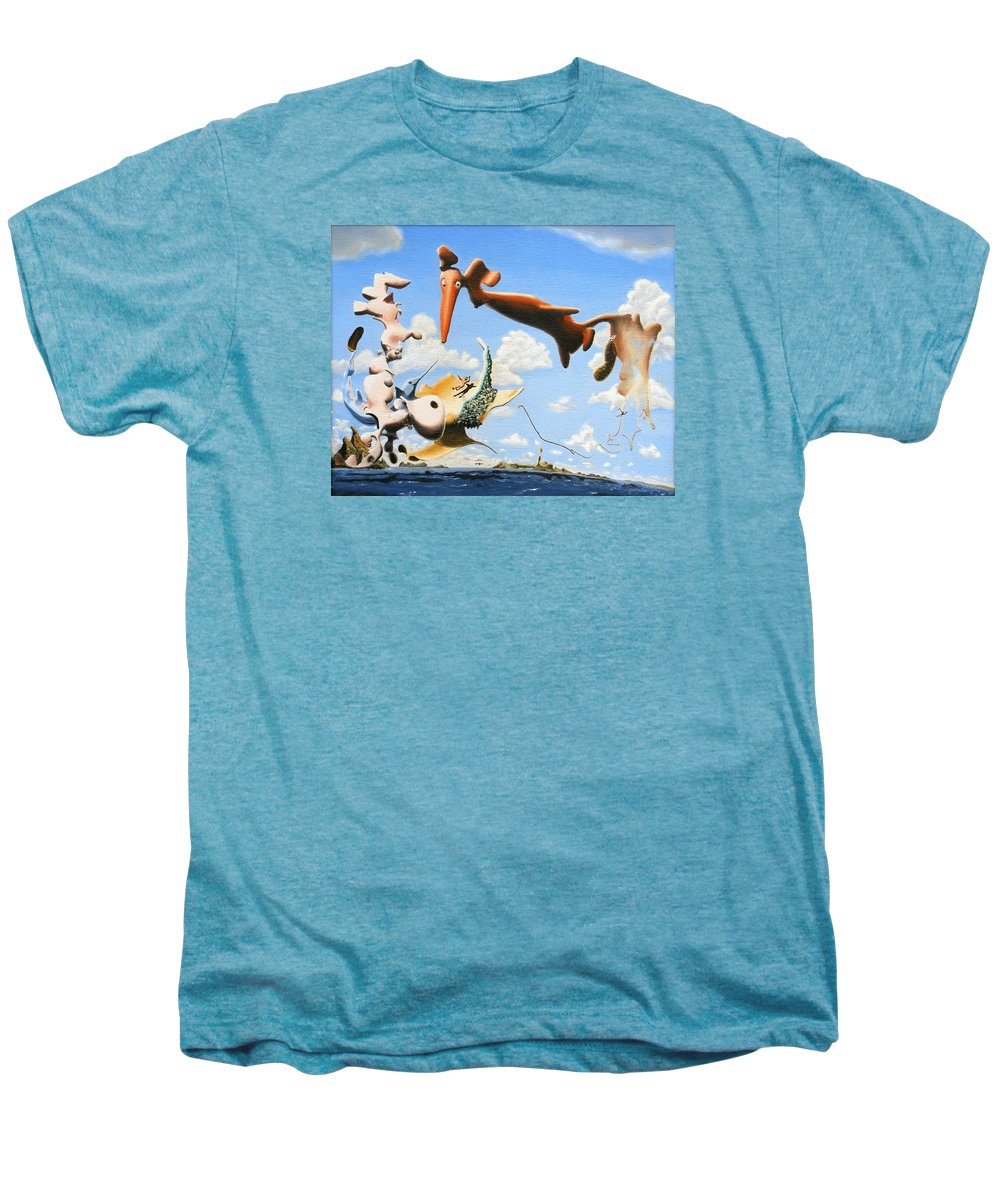 Surreal Men's Premium T-Shirt featuring the painting Surreal Friends by Dave Martsolf