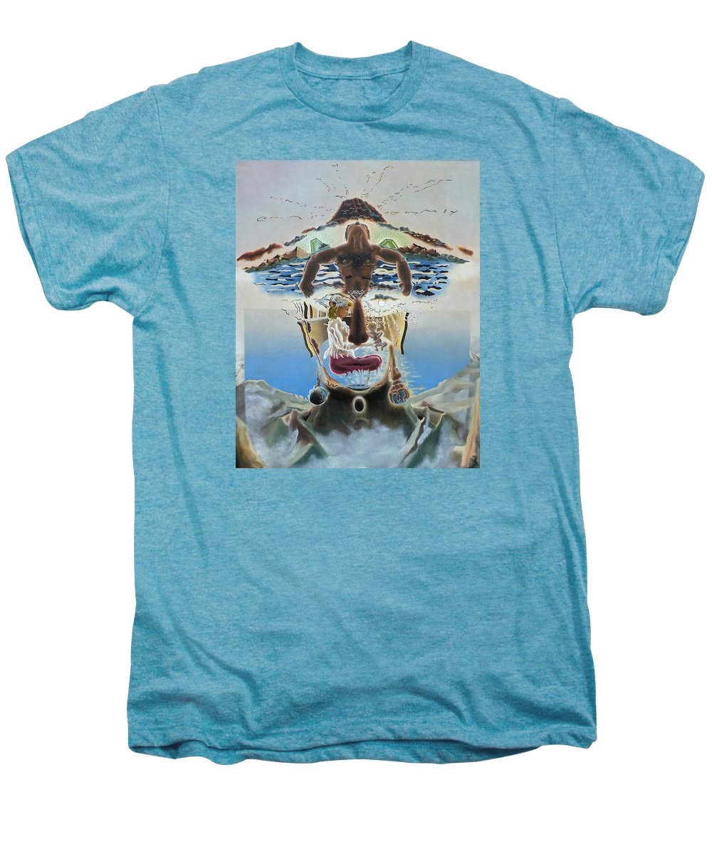 Surreal Men's Premium T-Shirt featuring the painting Surreal Memories by Dave Martsolf