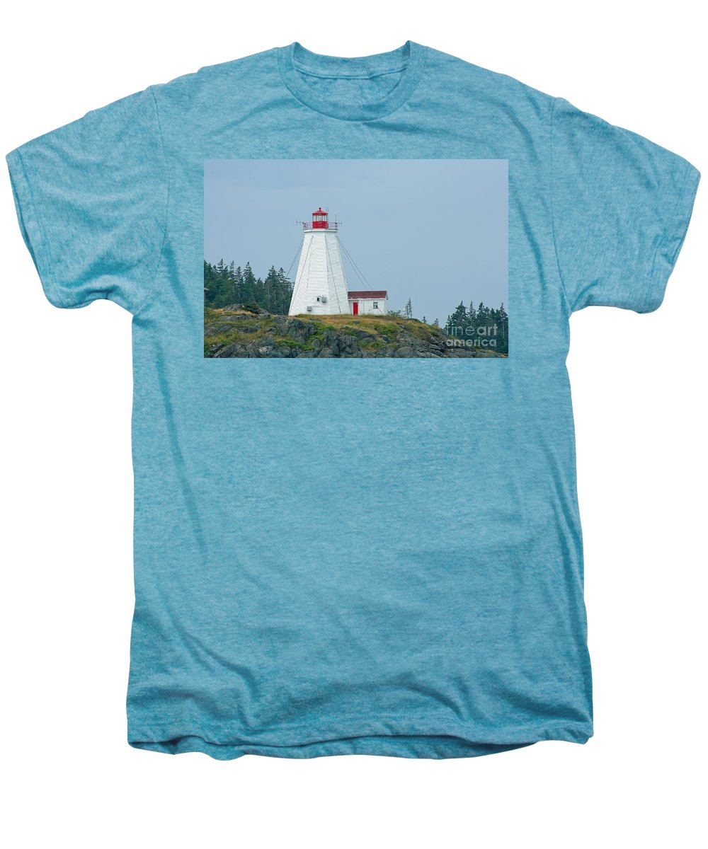 Lighthouse Men's Premium T-Shirt featuring the photograph Swallowtail Lighthouse by Thomas Marchessault