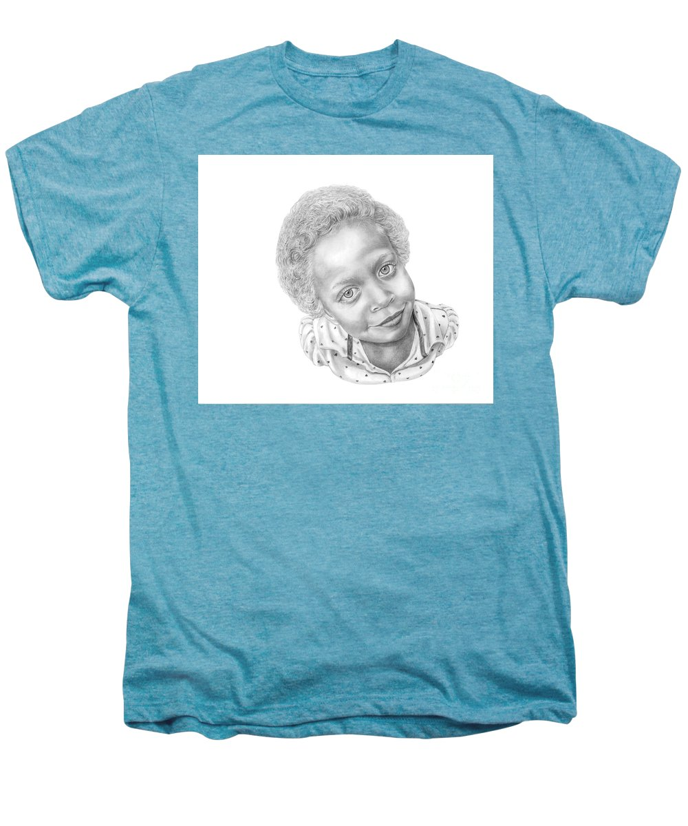 Portrait Men's Premium T-Shirt featuring the drawing Sweet Eyes by Murphy Elliott