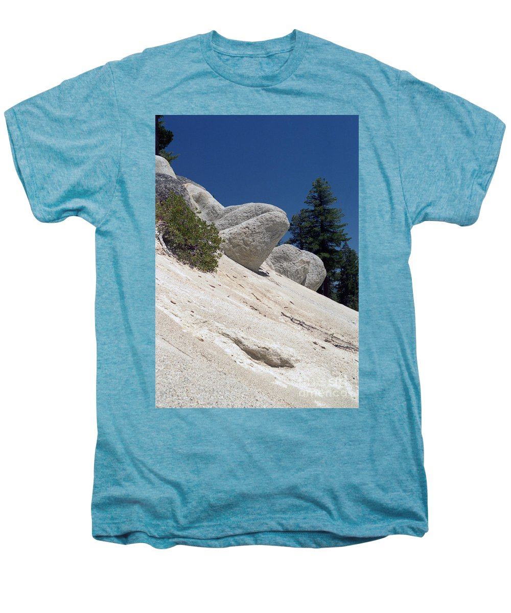 Abstract Men's Premium T-Shirt featuring the photograph Tahoe Rocks by Richard Rizzo