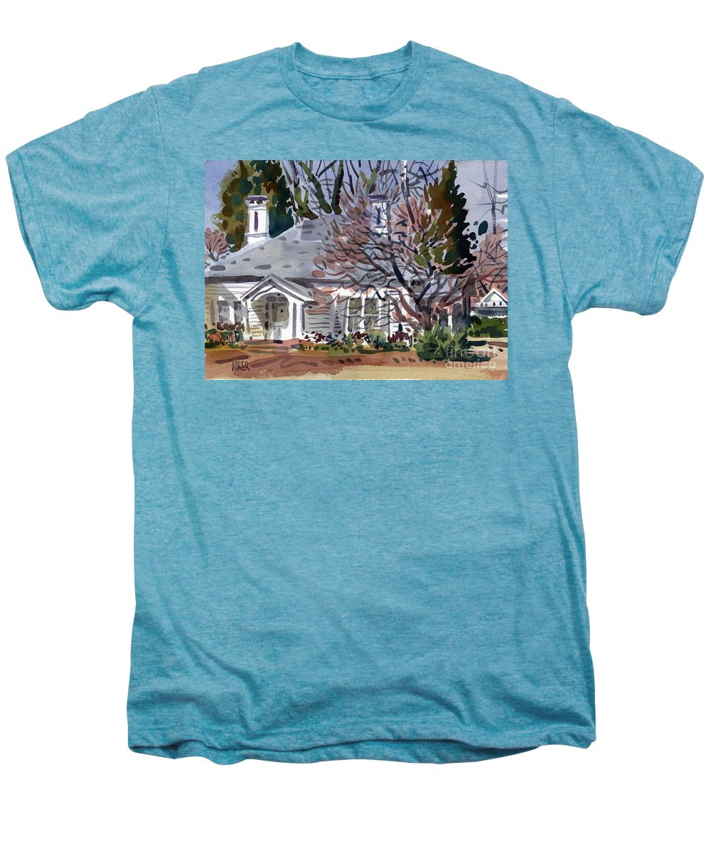 Tapp House Men's Premium T-Shirt featuring the painting Tapp House by Donald Maier