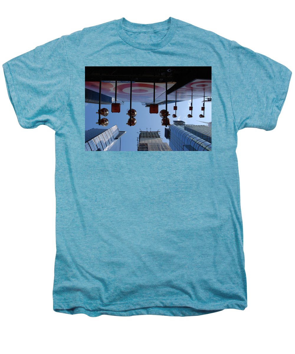 Architecture Men's Premium T-Shirt featuring the photograph Target Lights by Rob Hans