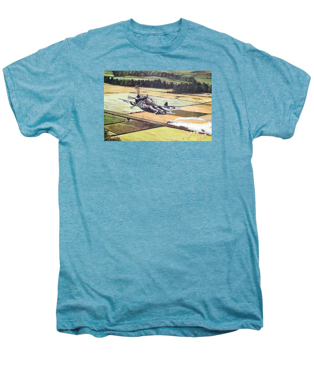 Military Men's Premium T-Shirt featuring the painting Target Of Opportunity by Marc Stewart