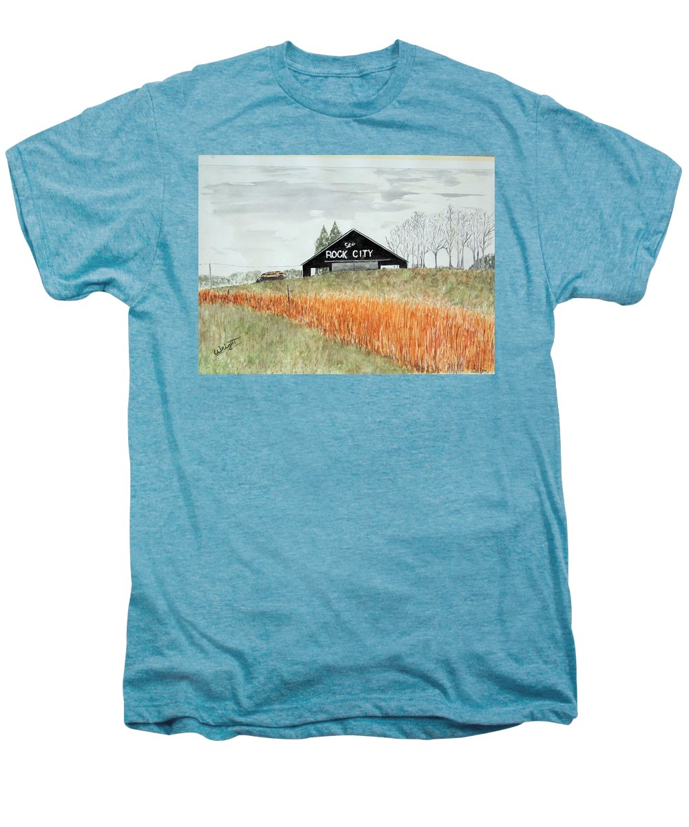 Barns Men's Premium T-Shirt featuring the painting Tennessee Destination by Larry Wright