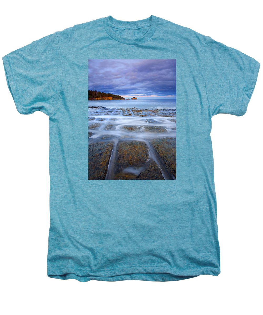 Sunset Men's Premium T-Shirt featuring the photograph Tesselated Sunset by Mike Dawson