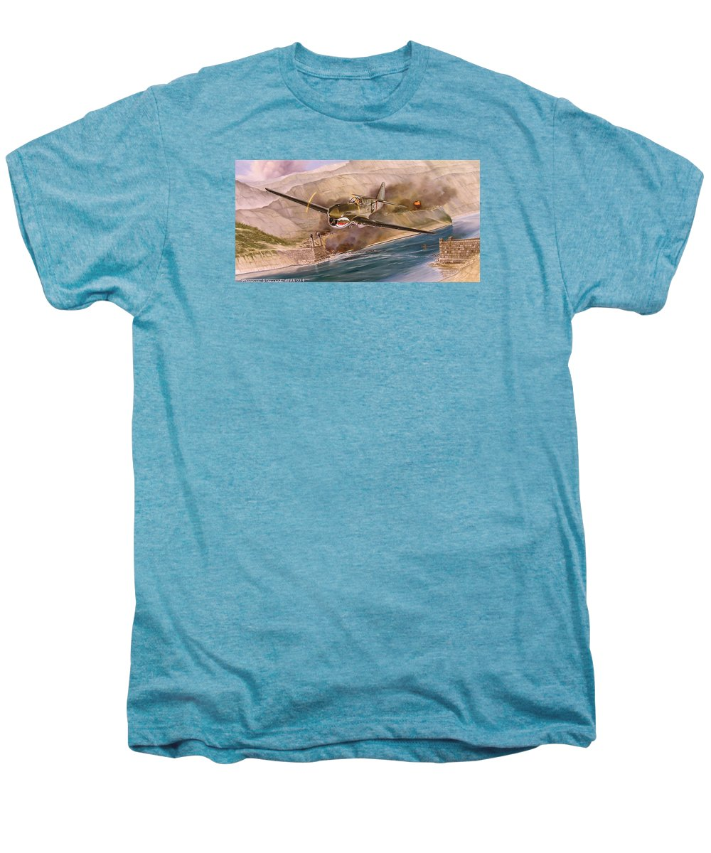 Painting Men's Premium T-Shirt featuring the painting Tex Hill Over The Salween Gorge by Marc Stewart