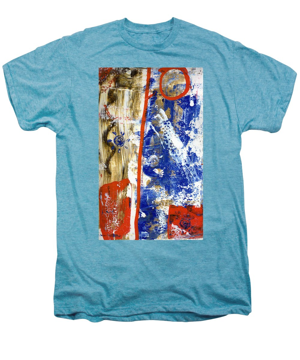 Abstract Men's Premium T-Shirt featuring the painting The 4th by Wayne Potrafka