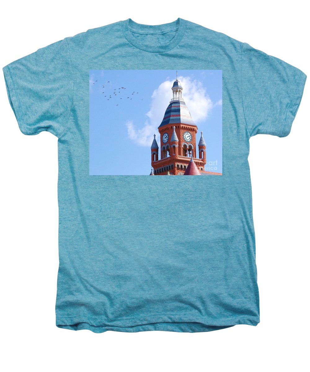Clock Men's Premium T-Shirt featuring the photograph The Birds by Debbi Granruth