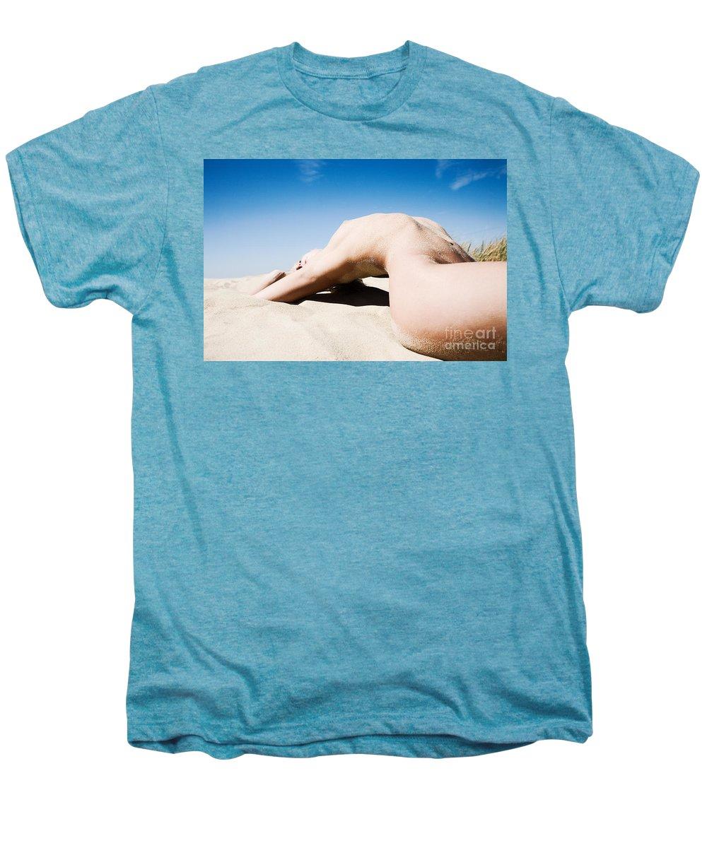 Sensual Men's Premium T-Shirt featuring the photograph The Bridge by Olivier De Rycke