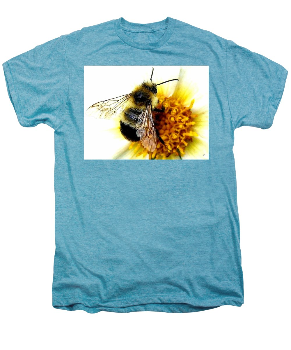 Honeybee Men's Premium T-Shirt featuring the photograph The Buzz by Will Borden