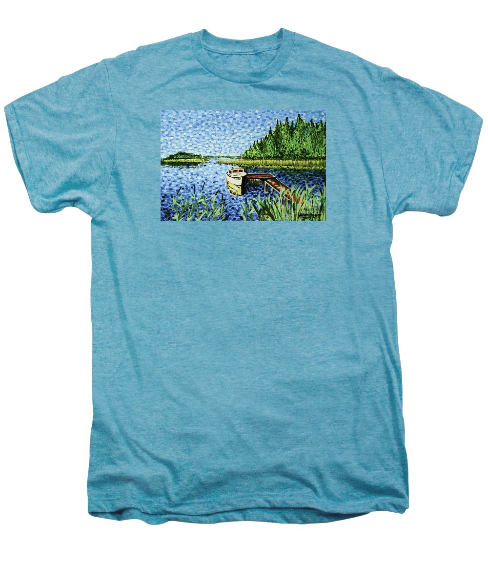Hogan Men's Premium T-Shirt featuring the painting The Calypso by Alan Hogan