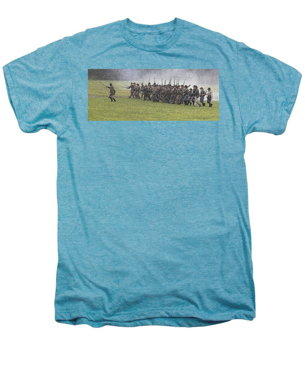 Civil War Men's Premium T-Shirt featuring the photograph The Conflict by Robert Pearson