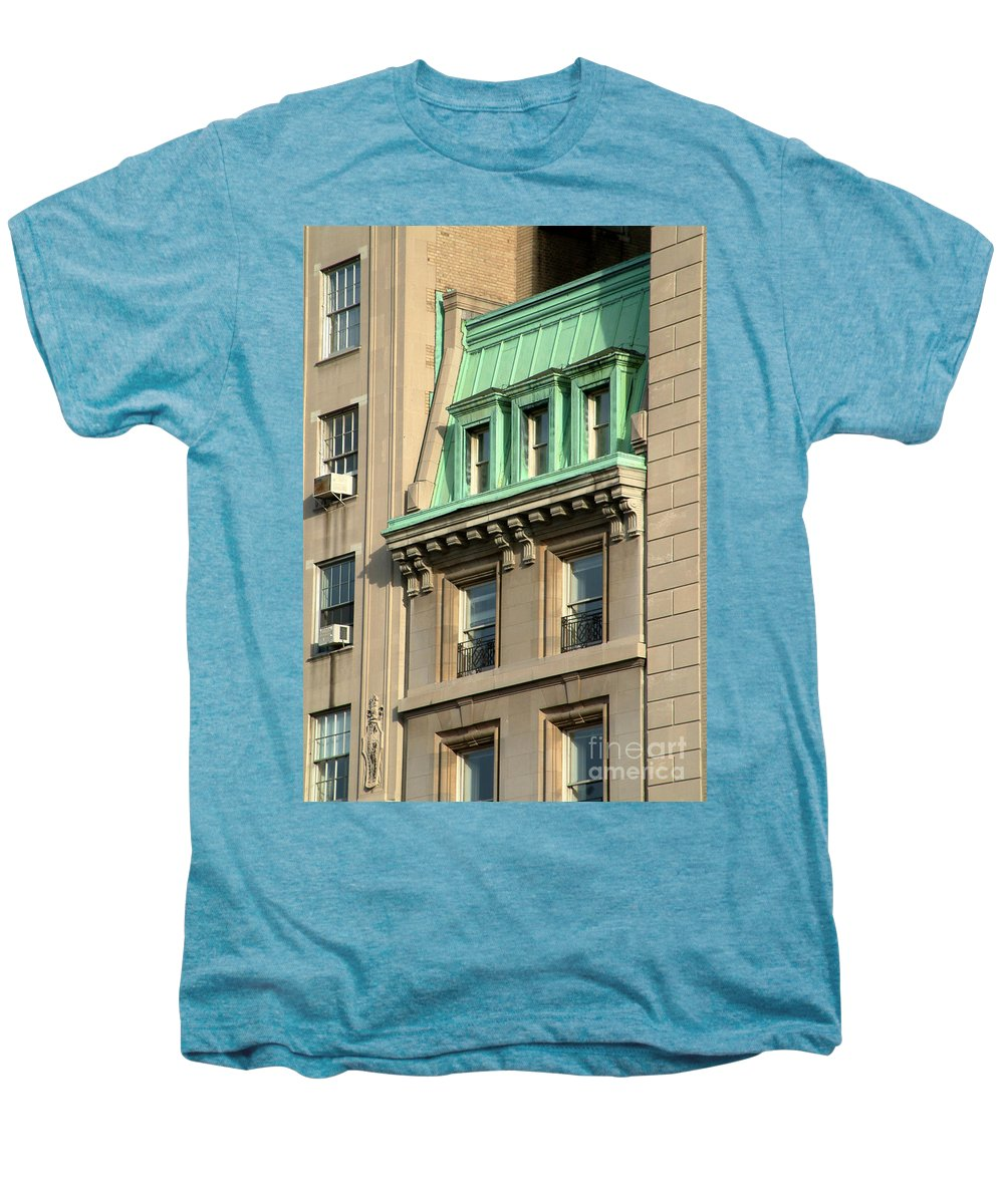Apartments Men's Premium T-Shirt featuring the photograph The Copper Attic by RC DeWinter