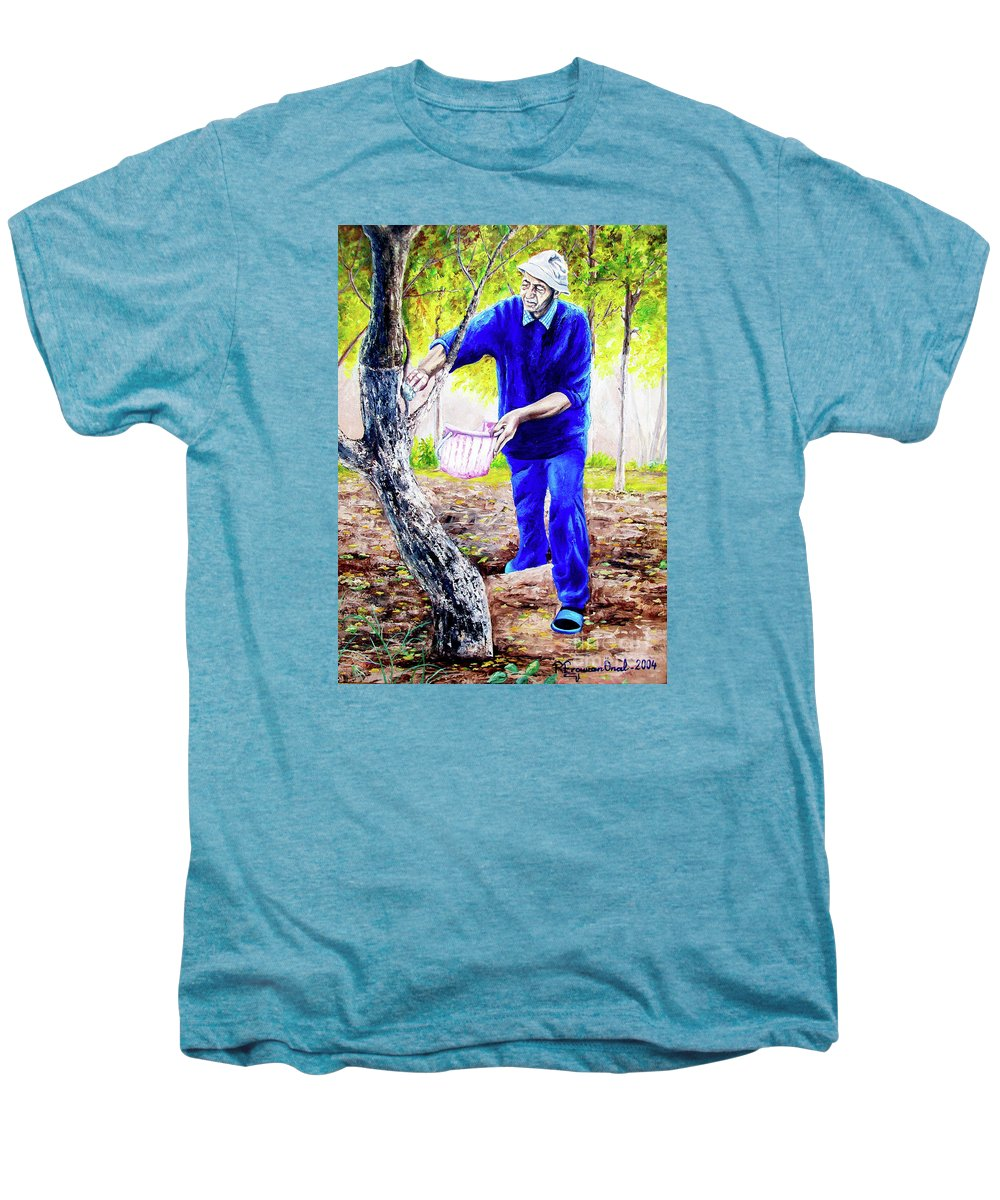 Daddy Men's Premium T-Shirt featuring the painting The Cure - La Cura by Rezzan Erguvan-Onal