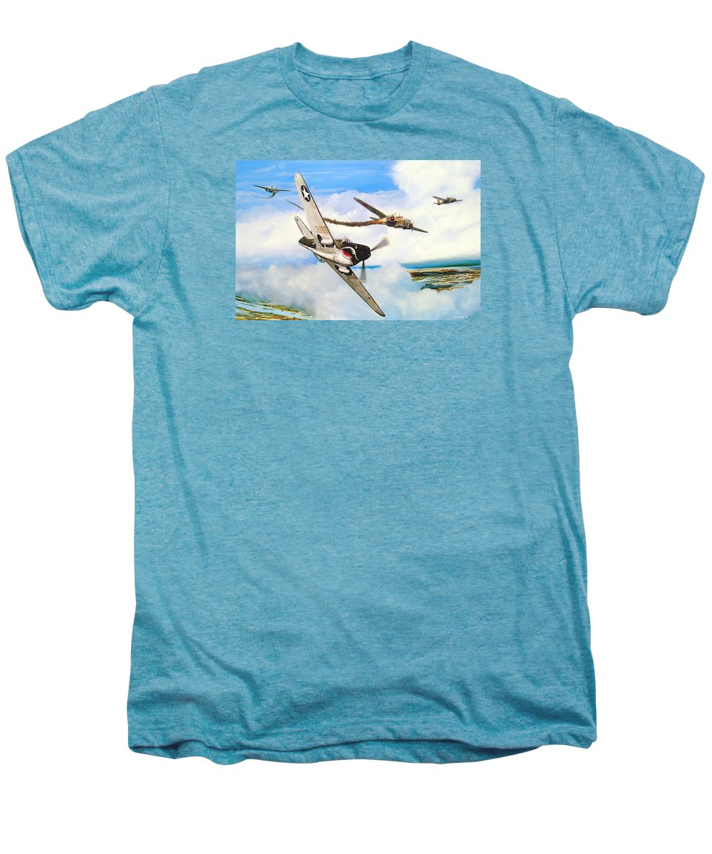 Military Men's Premium T-Shirt featuring the painting The Day I Owned The Sky by Marc Stewart