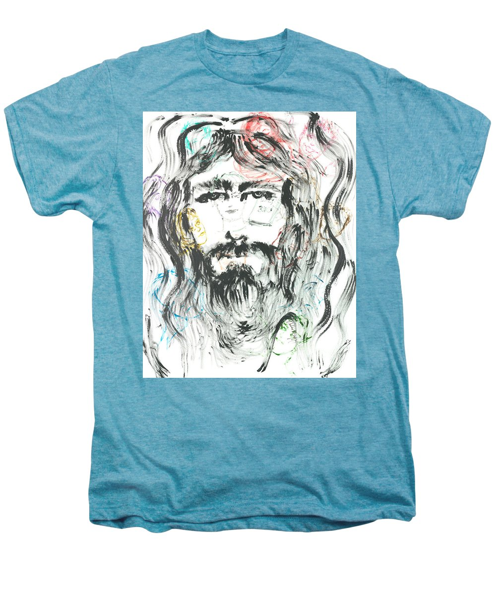 Jesus Men's Premium T-Shirt featuring the painting The Emotions Of Jesus by Nadine Rippelmeyer